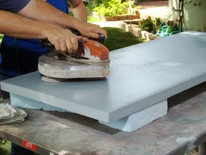 polish solid surface countertops