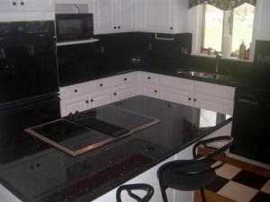 Polished Black Granite Countertops 300x225 Black Granite Countertops