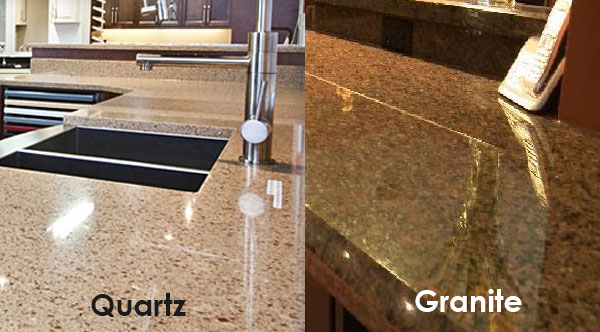 Quartz Vs Granite Solid Surface Countertops Kitchen
