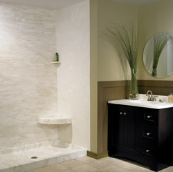 solid surface shower walls Solid Surface Shower Walls
