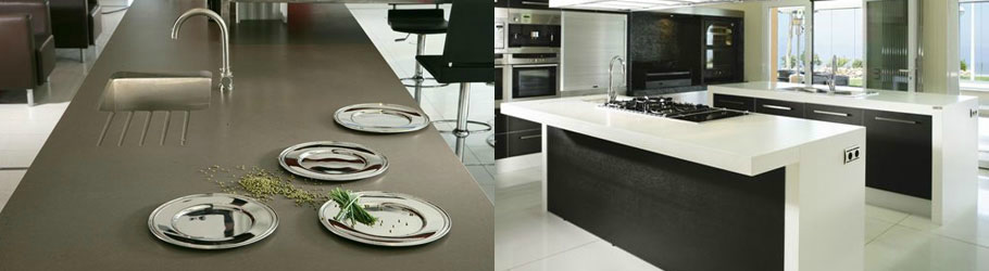 Silestone vs caesarstone solid surface countertops Kitchen countertops quartz vs solid surface